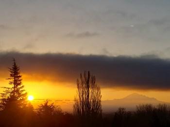 Sunrise (April 5, 2021). Photo courtesy of Jackie Rodriguez of Ferndale.